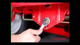 How to level the deck on your MTD / Troy-Bilt Riding Mower
