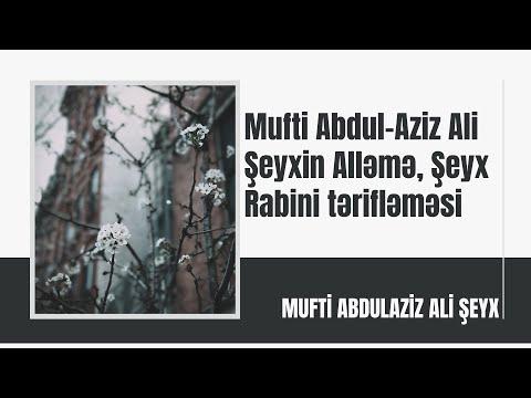 Mufti Abdul-Aziz Ali Şeyxin Alləmə, Şeyx Rabini tərifləməsi