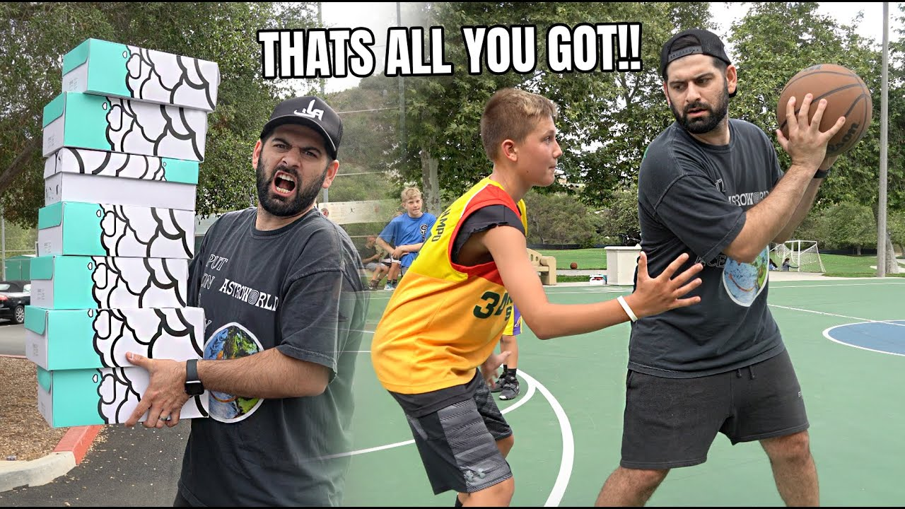 Giving FREE SNEAKERS To Kids If They Score On Me (Park Takeover Basketball)