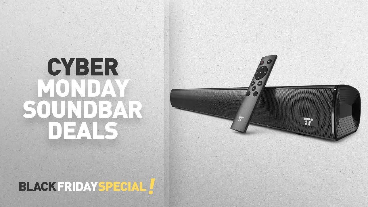 Top Cyber Monday Soundbars Deals Soundbar Taotronics Sound Bar Wired And Wireless Bluetooth Audio
