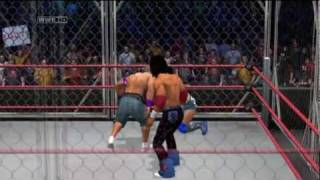Smackdown Vs Raw 2011: Steel Cage Match, John Cena V.S The Miz V.S John Morrison Thumbnail