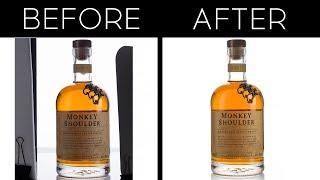Как обработать изоляты | склейка и удаление фона в фотошоп | бутылка на белом фоне