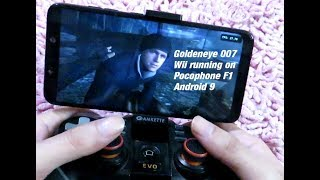 Pocophone F1 Wii Goldeneye 007 Dolphin emulator Android 9 Gameplay Snapdragon 845