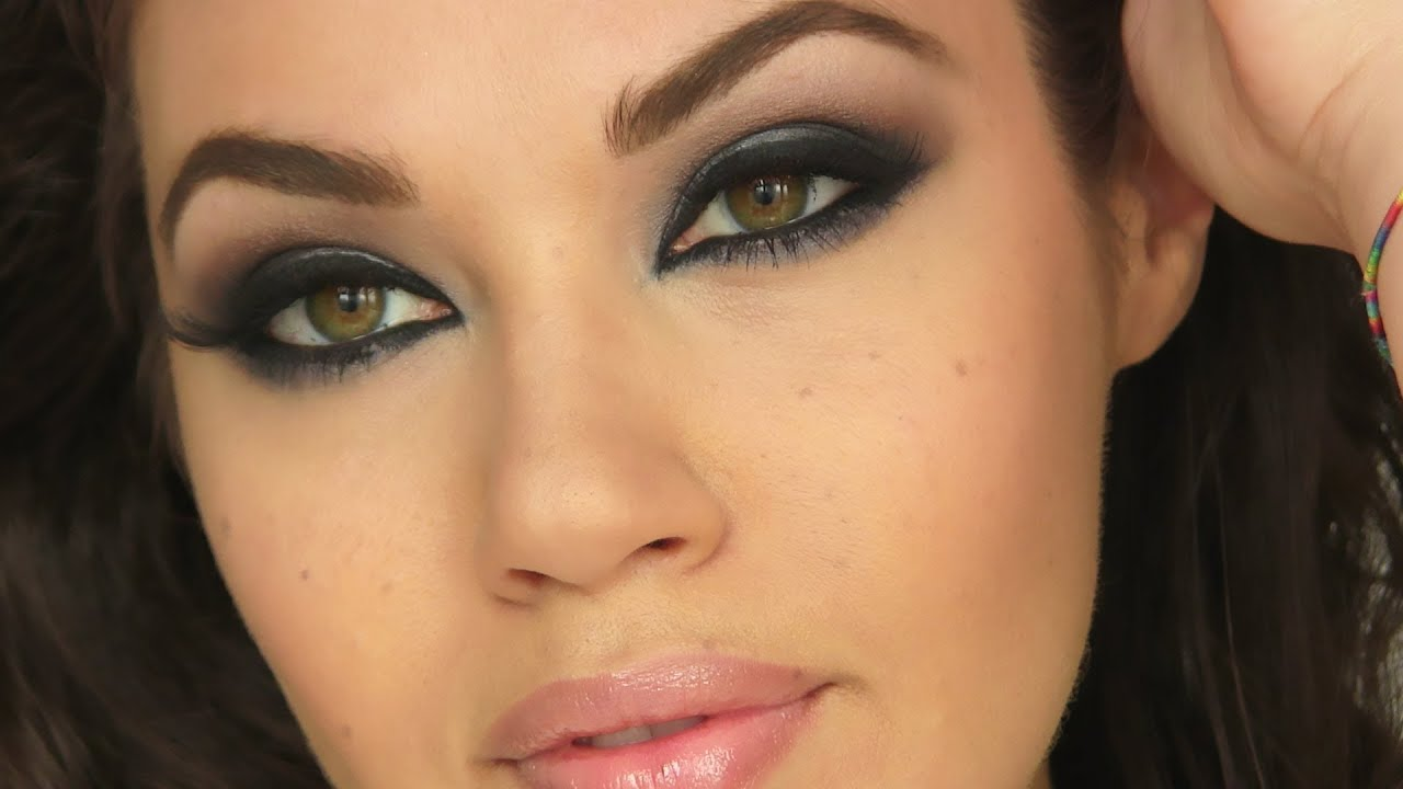 Haifa Wehbe Inspired Smokey Eye Tutorial Eman Youtube