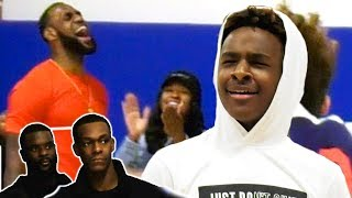 Bronny Jr Plays In Front of LEBRON, Rondo & Lance! Uses One Man FASTBREAK + DIME DROPPER Badges!