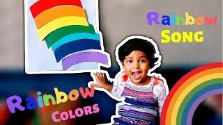 Rainbow Colours Song for Kids   Rainbow Violet Indigo Blue Rhyme