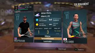 Tennis World Tour/THAILAND VS JAPAN/Florida Ace Cup MIAMI/SEMI FIANAL ROUND