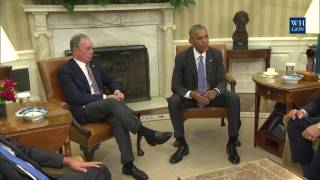 President Obama Holds a Meeting on Trade with Business, Government, and National Security Leaders