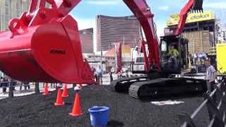 Video still for LBX Excavator Challenge at CONEXPO-CON/AGG 2014
