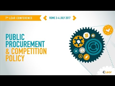Lear Conference 2017 - Public Procurement & Competition Policy