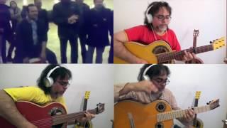 """""""Por Derecho"""" Buleria Calo /Ruben Diaz 3 Simplicio guitars + Julian de Burdeos &Sabu"""
