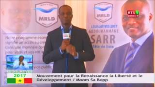 Législatives 2017: 20éme déclaration du MLRD