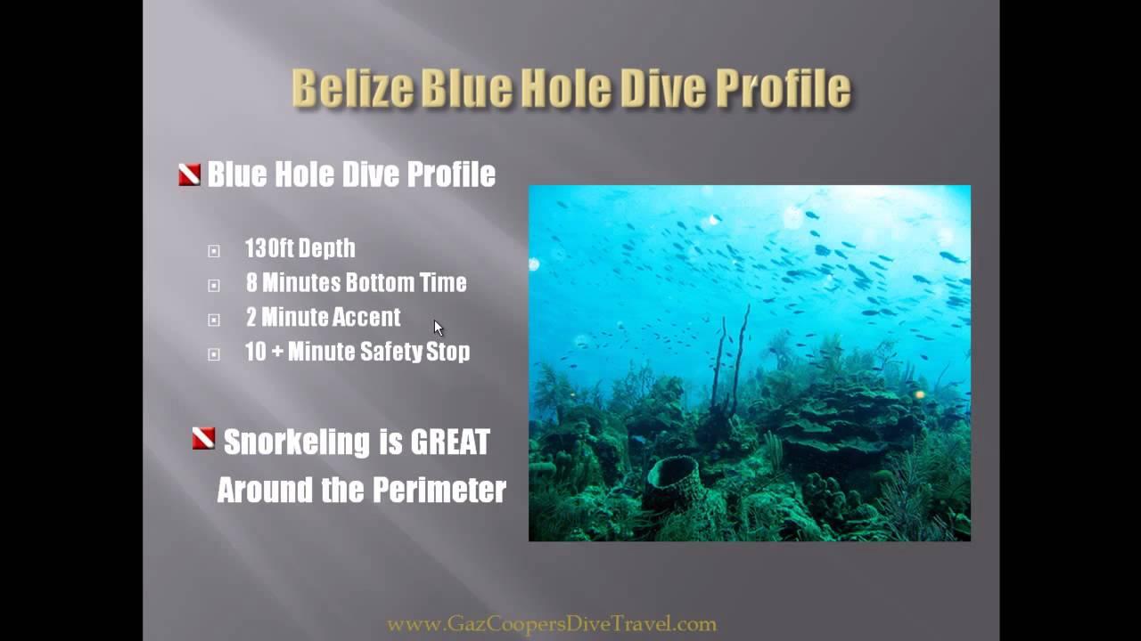 Great blue hole depth