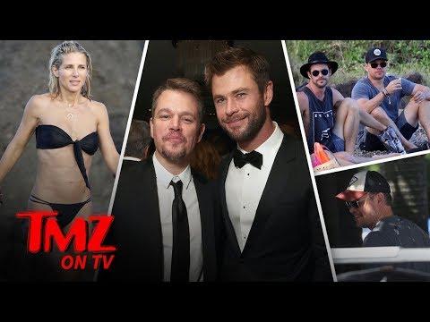 Chris Hemsworth Loves His Wife Elsa Pataky's Butt in a Bikini  TMZ TV