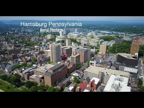 Harrisburg Pennsylvania | Downtown | Susquehanna | Capital Building | Aerial Footage | 9-pack