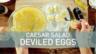 Food Deconstructed - Caesar Salad Deviled Eggs