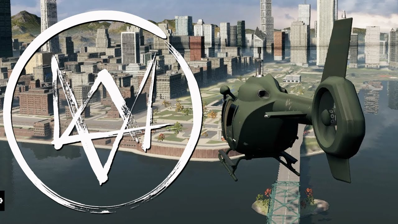 Elicottero Watch Dogs 2 : Flying a helicopter in watch dogs pc mod gameplay youtube