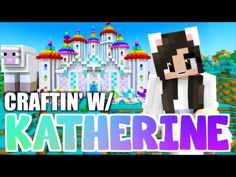 💙Minecraft RAINBOW SHEEP CASTLE! Craftin' w/ Katherine Ep. 37