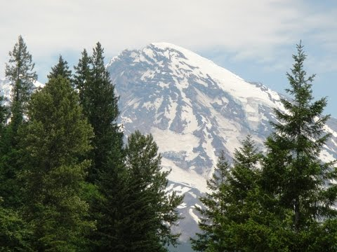 Mount RAINIER - an Active Strato Volcano, Washington State, USA