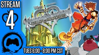 KINGDOM HEARTS: CHAIN OF MEMORIES Part 4 - Stream Four Star - TFS Gaming