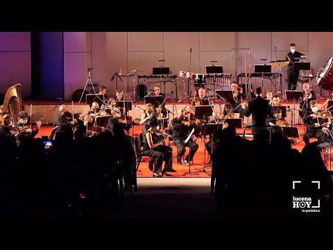 """VÍDEO: Música """"de película"""" con la Orquesta de Córdoba en un auditorio de Lucena lleno de mascarillas"""