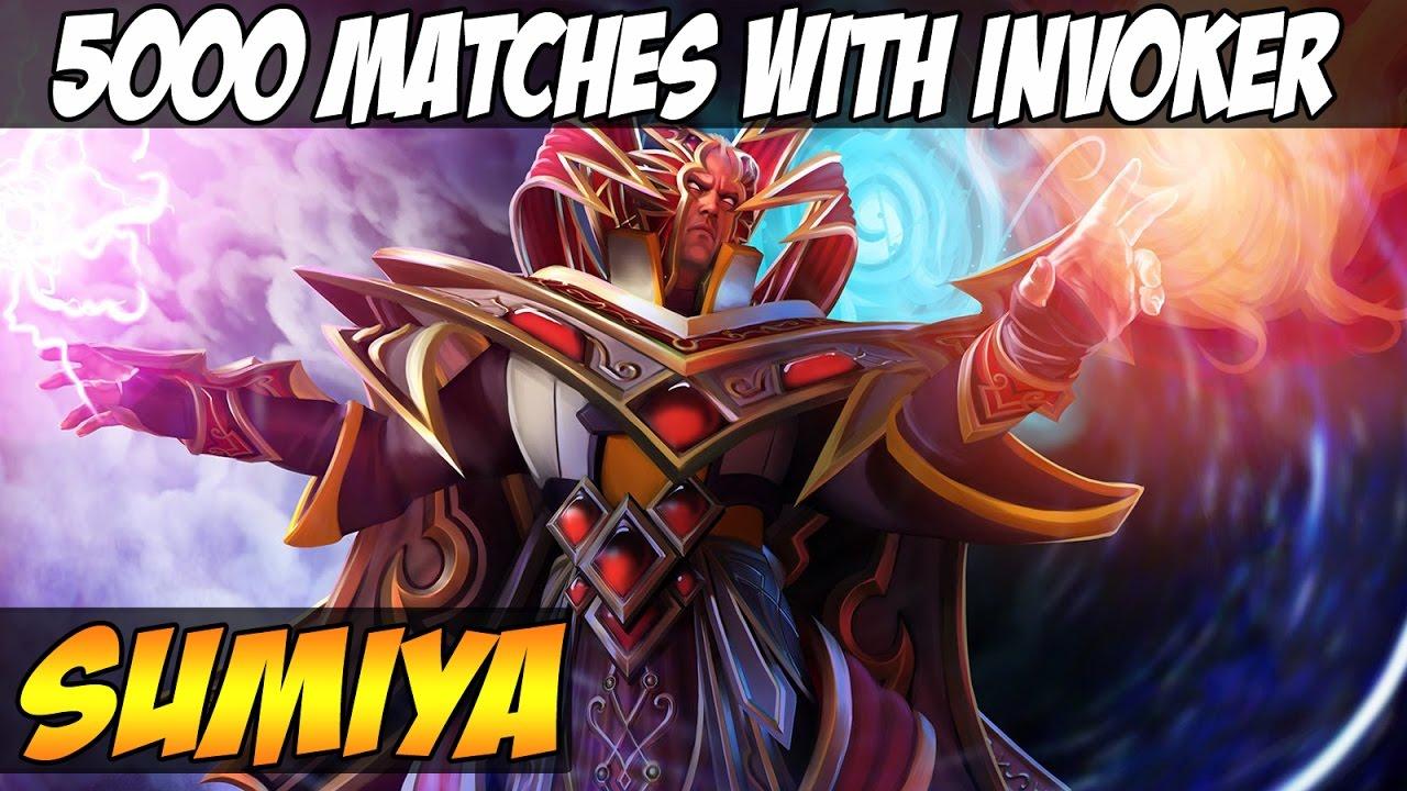 sumiya 6100 mmr 5000 matches with invoker vol 2 dota 2 youtube
