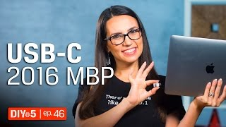 Mac Tips - How to use external storage with the late 2016 MacBook Pro 💻 DIY in 5 Ep 46