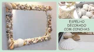 Espelho com conchas do mar