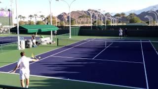 Jo Wilfried Tsonga and Richard Gasquet Indian Wells BNP Paribas Open Practice 3/5/13 #2/2