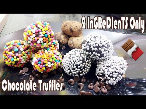 2 Ingredients Chocolate Truffles Recipe   Easy Truffles