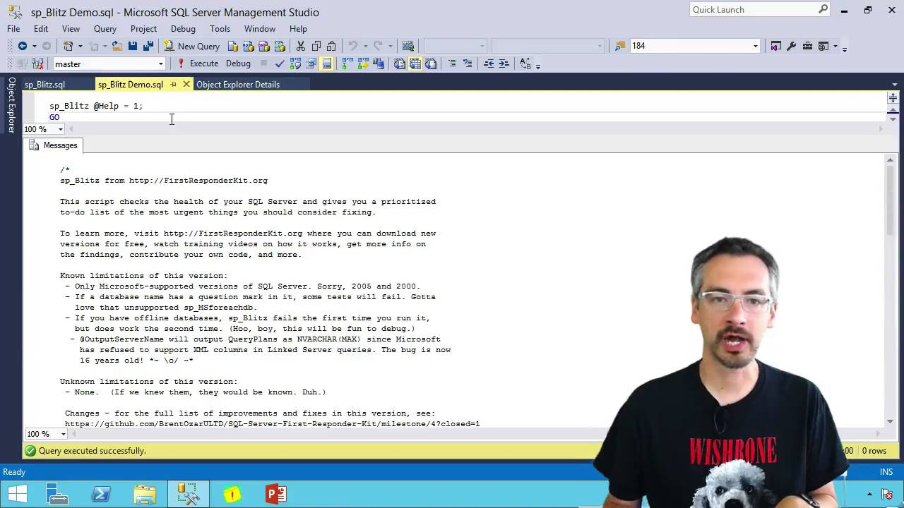 sp_Blitz®: Free SQL Server Health Check Script by Brent Ozar