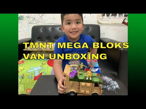 Teenage Mutant Ninja Turtles Mega Bloks Party Turtle Van Playset  Unboxing Review