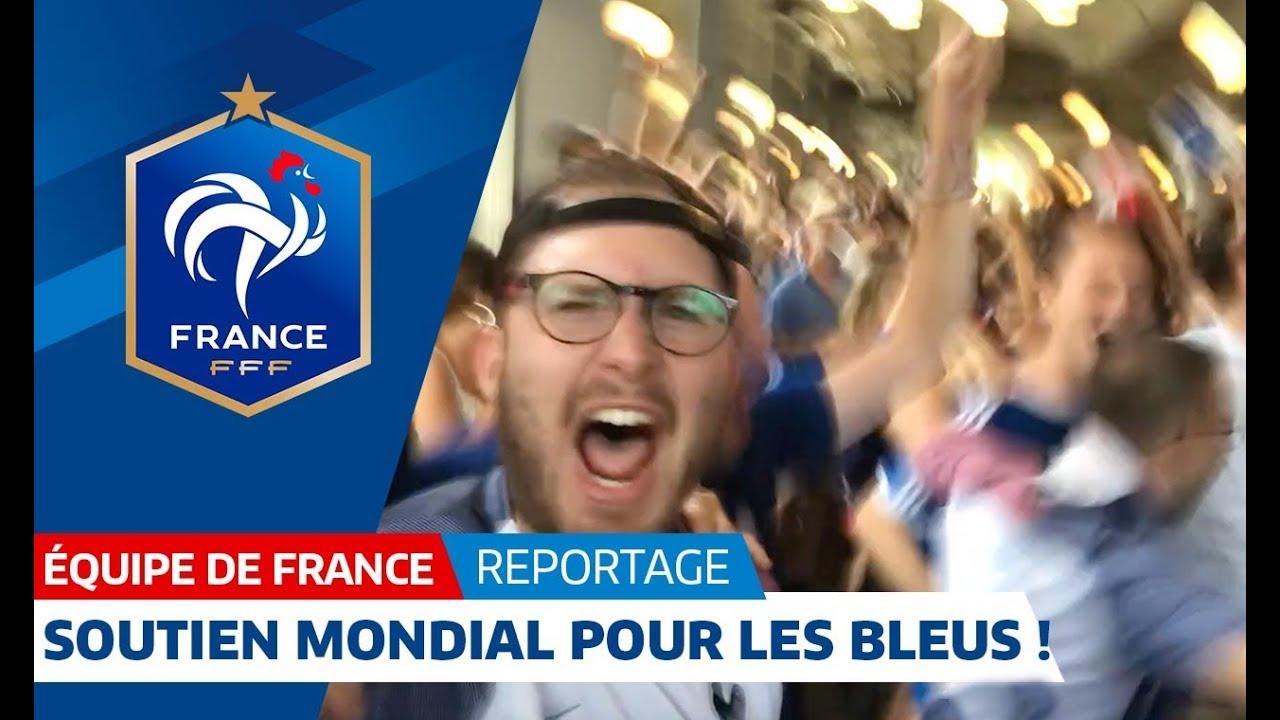 Soutien planétaire pour l'Equipe de France avant la finale de la Coupe du Monde  !