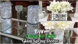 DIY DOLLAR TREE SPRING DECOR | 3 QUICK & EASY GLAM HOME DECOR IDEAS
