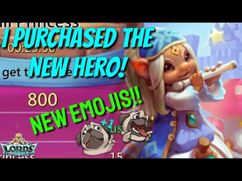 New Hero Released! New Emojis! - Lords Mobile
