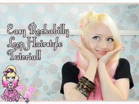 How To Do An Easy Rockabilly Loop Hairstyle Tutorial