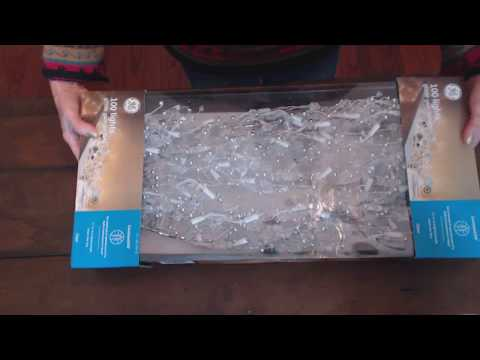 SouthernASMR Sounds ~ Unboxing GE Glitter Light Garland