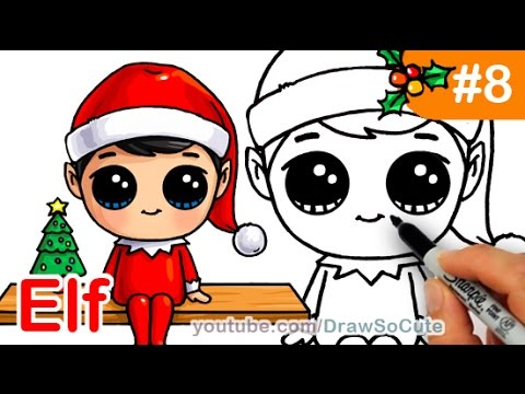 How to Draw Christmas Holiday Characters Cute - YouTube