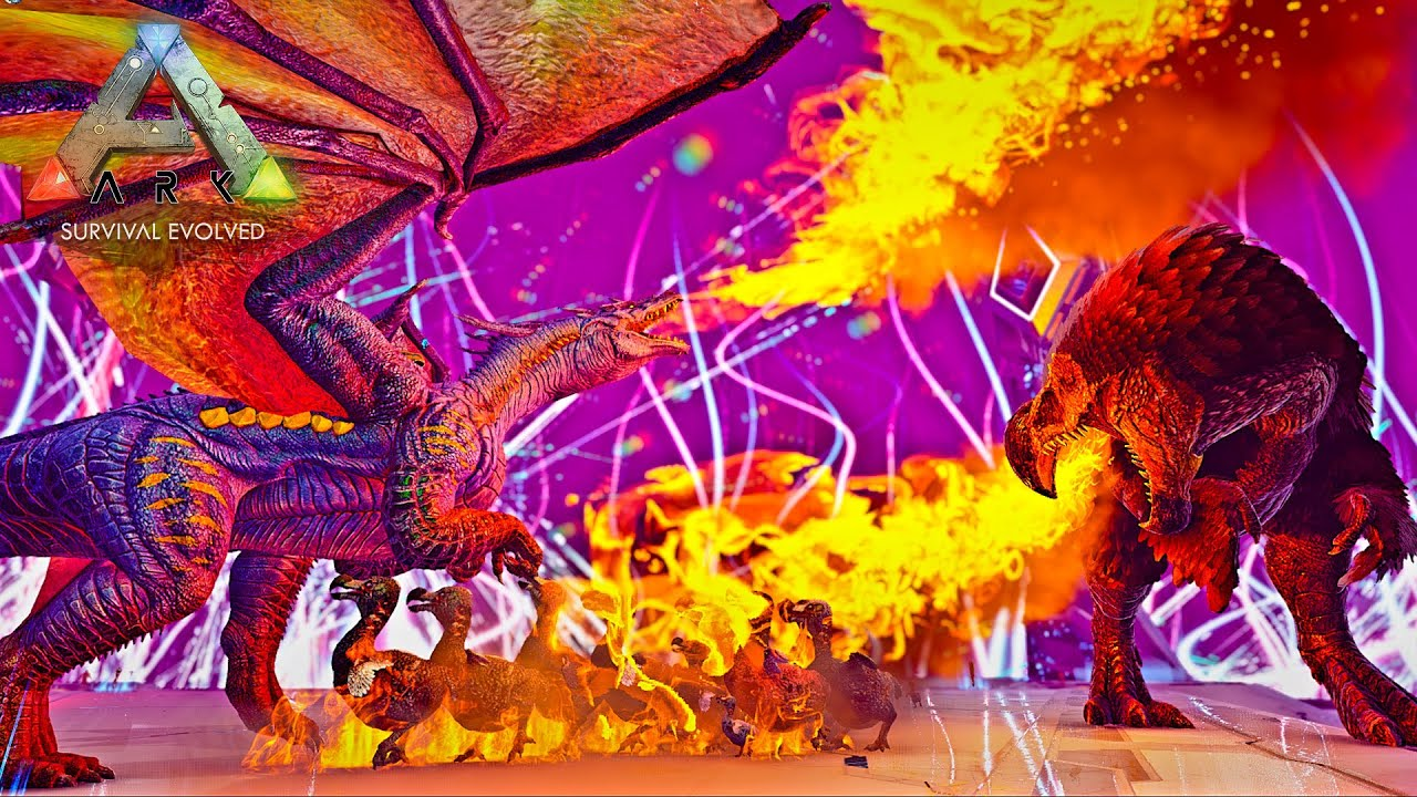【ARK genesis2】ドラゴンVSドードーレックス【Survive the ARK アルファ安定攻略】
