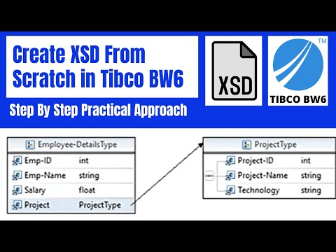 Systematically Creating XSD (Schema) from scratch in TIBCO BW 6.x