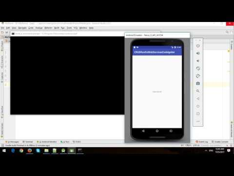 Android CRUD with CodeIgniter Restful Web Services and MySQL - Part 1
