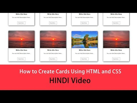 How To Create Cards Design Using HTML And CSS