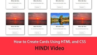 Gambar cover How to Create Cards Design Using HTML and CSS