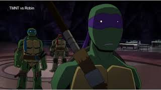 TMNT find the batcave and fight Robin