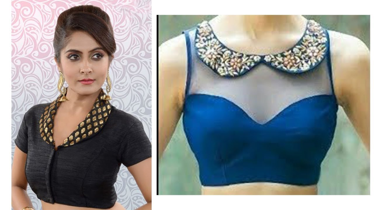 Collar Neck Blouse Design Ideas Latest Collar Neck Blouses Youtube