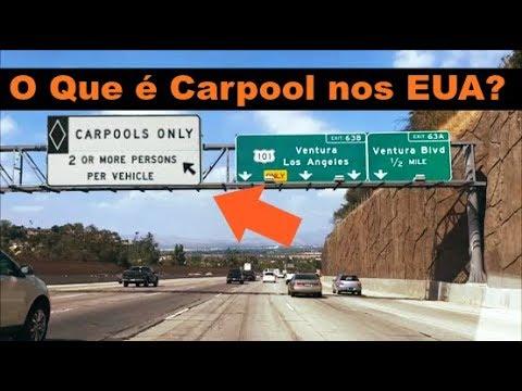 O Que E A Carpool Lane Nos Eua Youtube