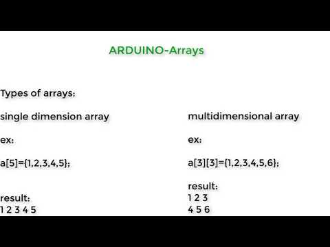 Arduino-functions, Arrays, Strings, Time