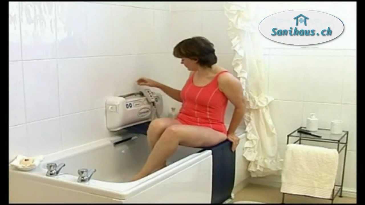 Badewannenlifte von Sanihaus - YouTube