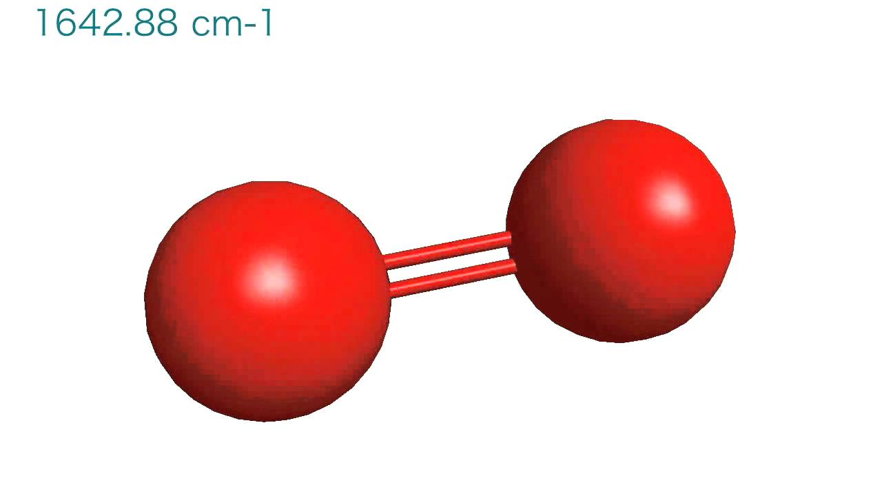 Vibration Of An Oxygen Molecule