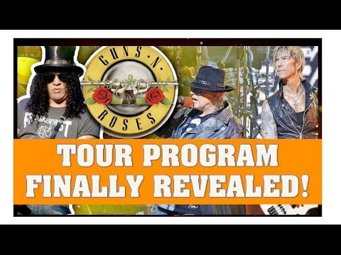 Guns N' Roses Reunion:  Not In This Lifetime Tour Program Revealed! San Fran AT&T Park